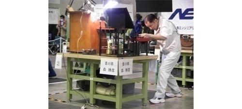 平成23年3月幕張メッセにて 第26回技能グランプリ 森勝彦選手出場